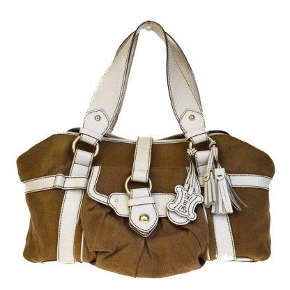 AAA Céline Designer Replica Logos Fringe Charm Brown Linen Leather Shoulder  Bag celine belt bag 034759f5e98ff