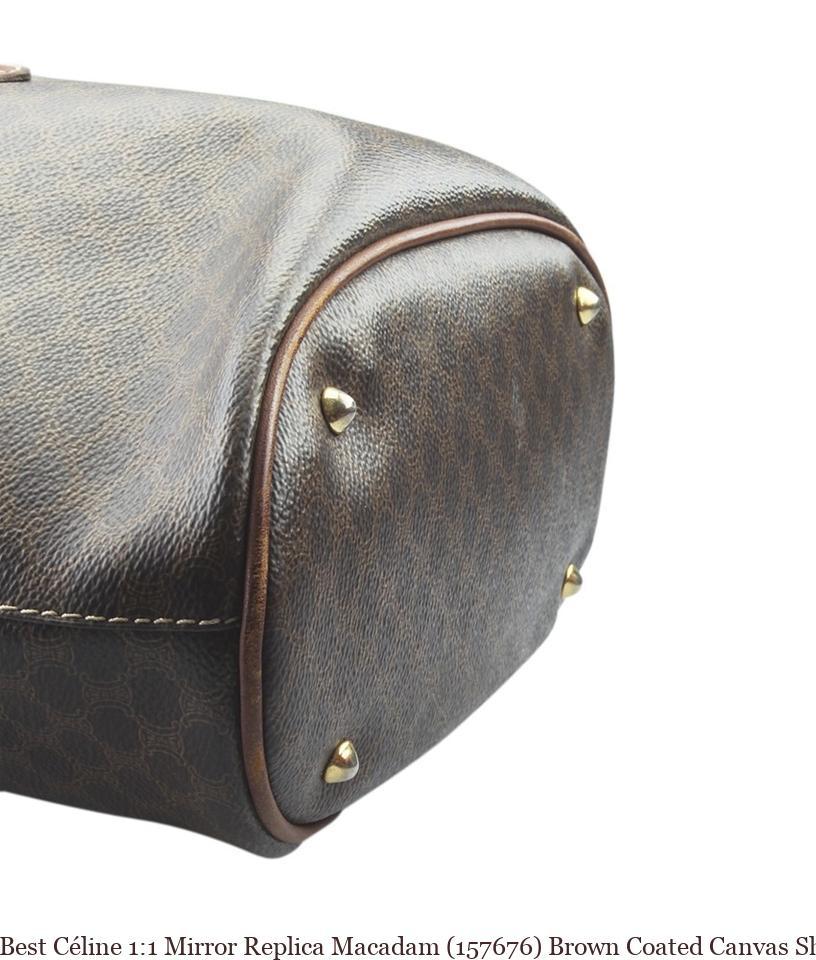 Best Céline 1 1 Mirror Replica Macadam (157676) Brown Coated Canvas Shoulder  Bag celine replica handbag afdc7429c9dea