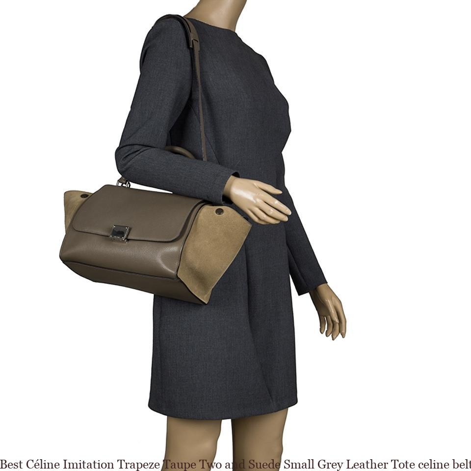 Best Céline Imitation Trapeze Taupe Two and Suede Small Grey Leather Tote  celine belt bag