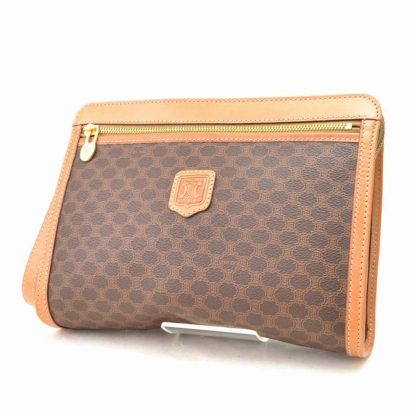 7ed3addd9 Cheap Céline 7 Star Replica Pvc M94 Second Made In Italy Brown Leather  Clutch fake handbags