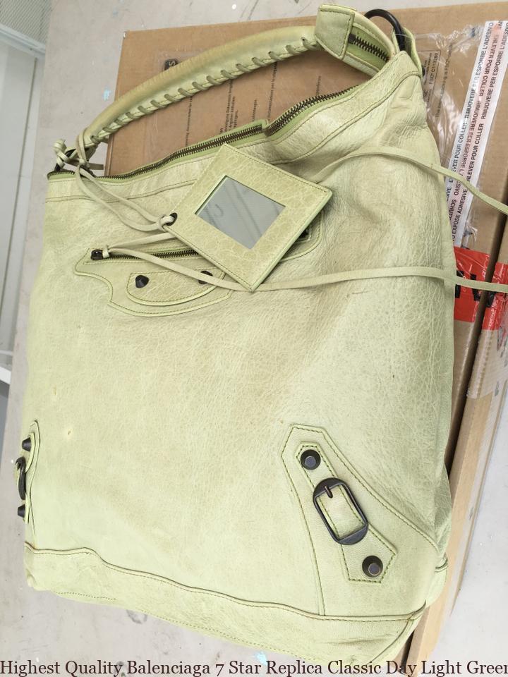4c2ae3dedf1e Highest Quality Balenciaga 7 Star Replica Classic Day Light Green Lambskin  Leather Shoulder Bag balenciaga shoes