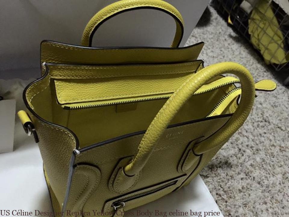 US Céline Designer Replica Yellow Cross Body Bag celine bag price ... e1dfb533ca742